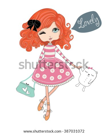 shopping girl children