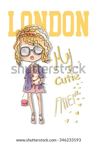 shopping girl with london