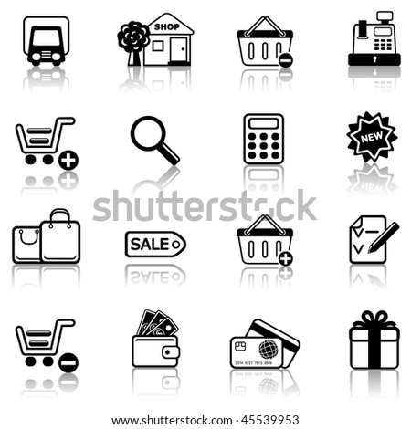 Shopping 2 icon set