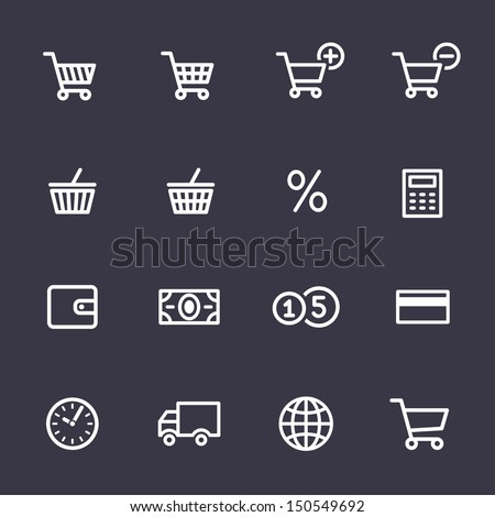 Shopping Icon Set. Icons for on-line shop