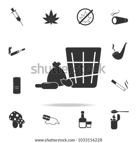 Shopping icon. Set of Human weakness and Addiction element icon. Premium quality graphic design. Signs, outline symbols collection icon for websites, web design, mobile app on white background