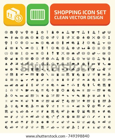 Shopping icon set,vector  #749398840
