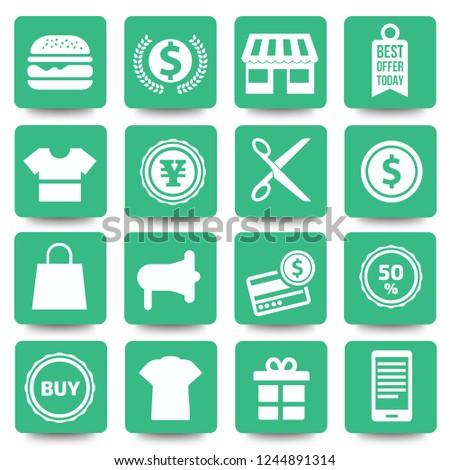 Shopping icon set vector design