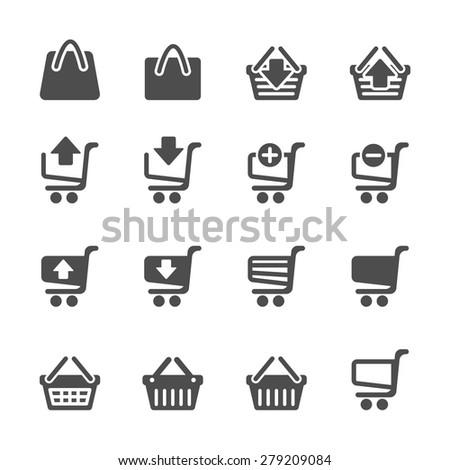 shopping icon set 4, vector eps10.