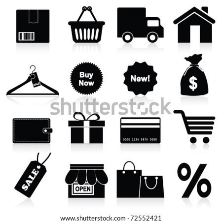 Shopping icon. Vector