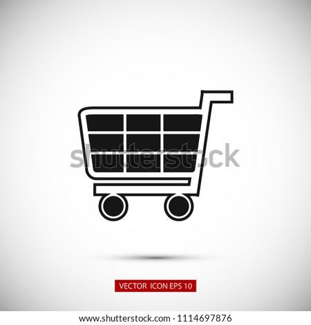 Shopping icon, Vector EPS 10 illustration style