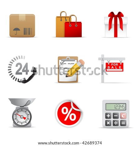 Shopping icons, part 1