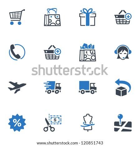Shopping Icons Set 1 - Blue Series