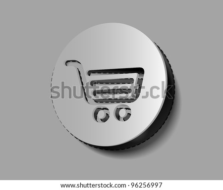Shopping icons/sticker vector design element.