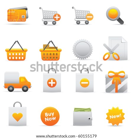 Shopping Icons, Yellow13 Professional icons for your website, application, or presentation