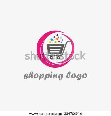 Shopping logo. Shopping cart logo. Online shop logo