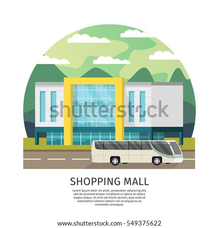 shopping mall building round...