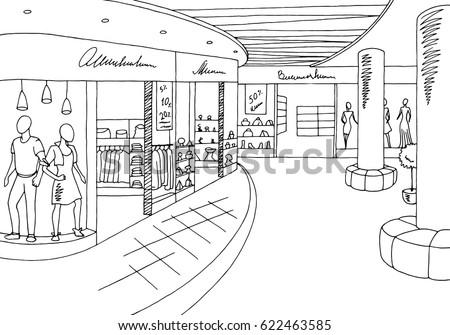 shopping mall graphic black