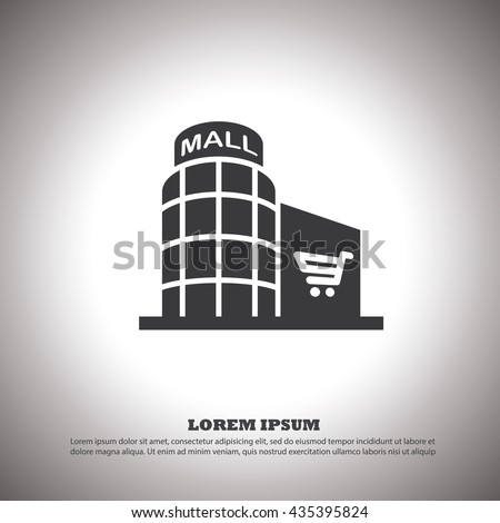 shopping mall icon .vector.