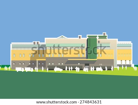 shopping mall retail vector