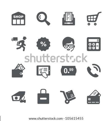 Shopping minimalistic simple icons