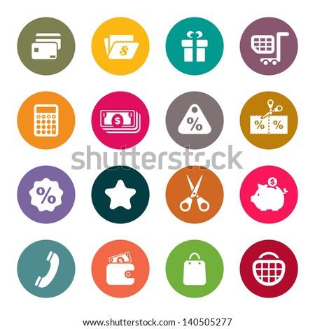 Shopping theme icons