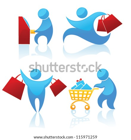 shopping, vector collection of symbols