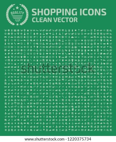 Shopping vector icon set design