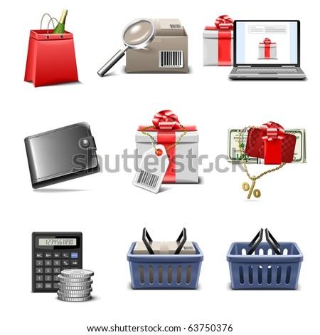 shopping vector icon set part 4