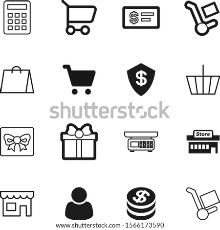 shopping vector icon set such as: golden, weight, basket, account, center, compare, customers, shield, coins, fashion, users, coin, cafe, safety, construction, measurement, credit, user, treasure