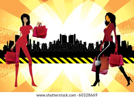 Shopping vector illustration