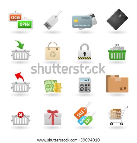 Shopping Web Icon Set