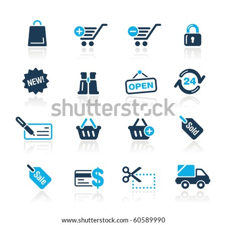 Shopping Web Icons // Azure Series
