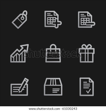 Shopping web icons set 1, grey mobile style