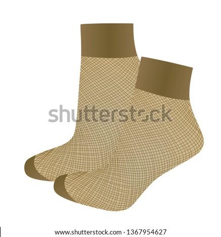 short brown fishnet socks