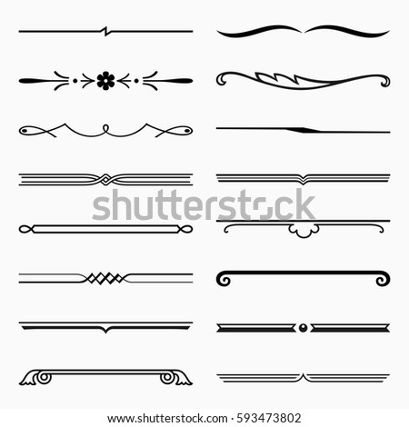 Short dividers (set 1)