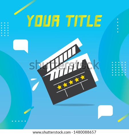 Short Film Contest or Testimonial Video Contest , Event Invitation with Venue and Time Details for Social Media - Vector