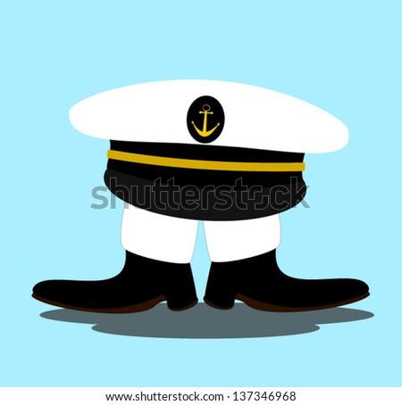 short sailor with big hat