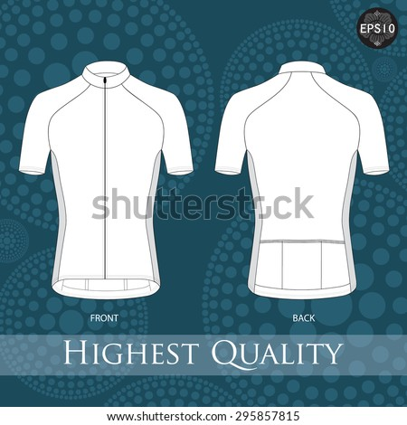 Short Sleeve Cycling Jerseys,Vector.