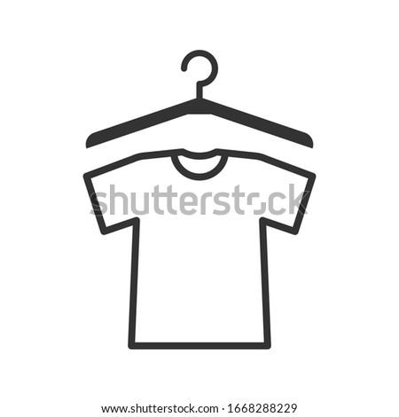 Short Sleeve shirt and henger icon vector trendy design templates on blank background Stock fotó ©
