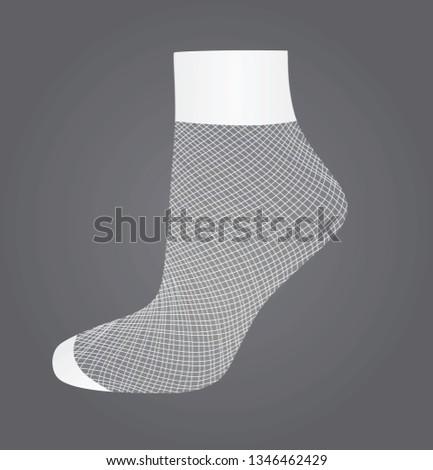 short white fishnet socks