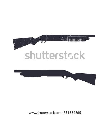 stock-vector-shotgun-hunting-rifle-shotgun-silhouette-over-white-vector-illustration