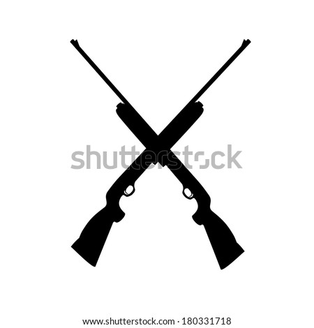shotgun isolated on white