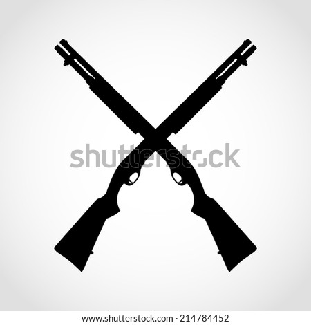 shotgun silhouette icon