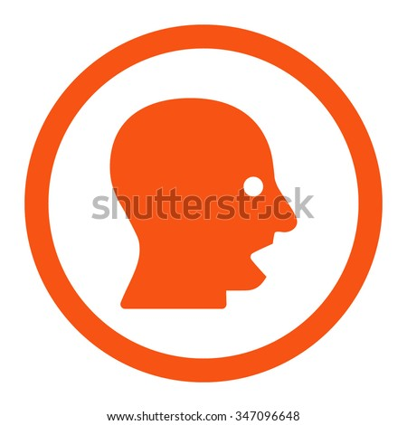 shouting head vector icon
