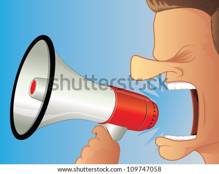 Shouting using a Megaphone
