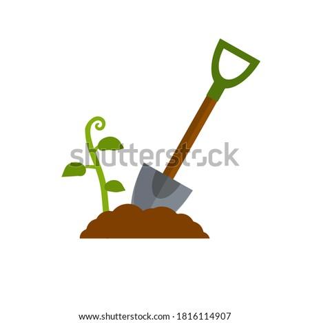 shovel digging hole harvest