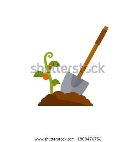 shovel digging hole wood