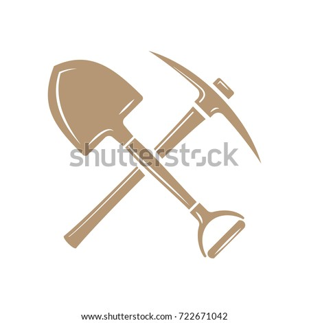 shovel pick axe sign