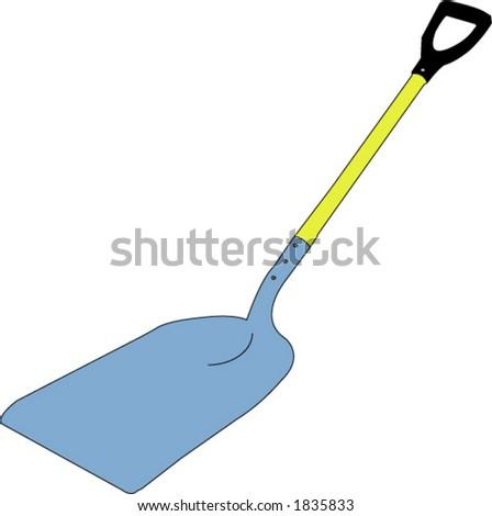 Shovel - vector - stock vector