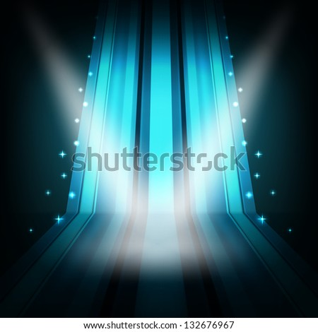 show background with stripes and lights