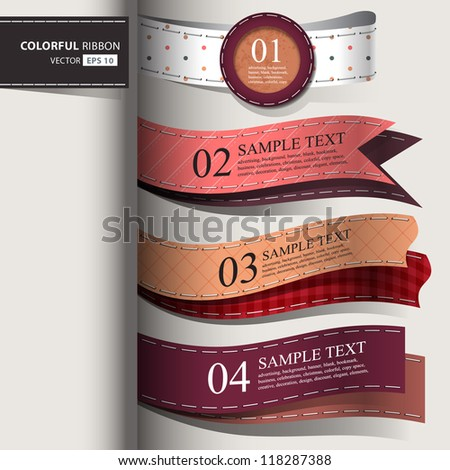 Show colorful leather promotional products design, vector illustration