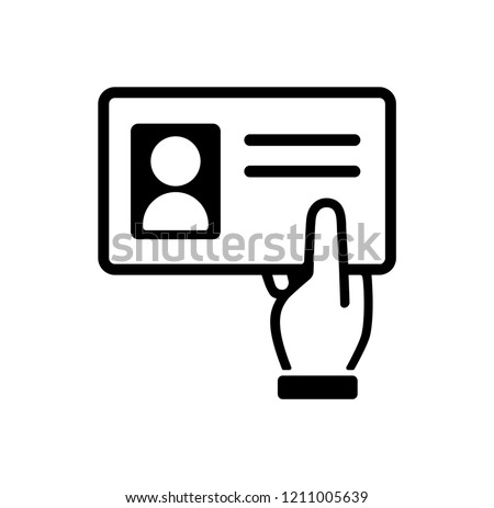 show id card ( identification card / driver license) icon