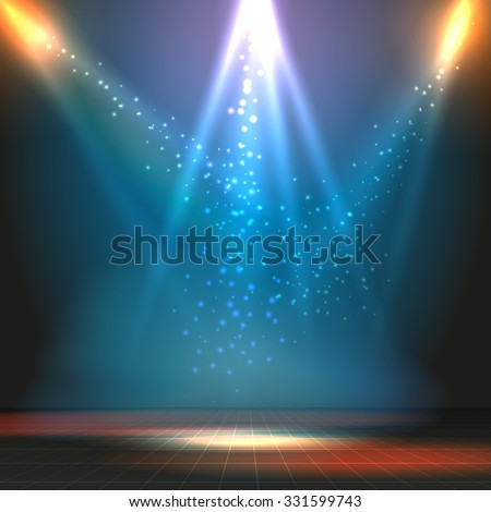 show or dance floor vector