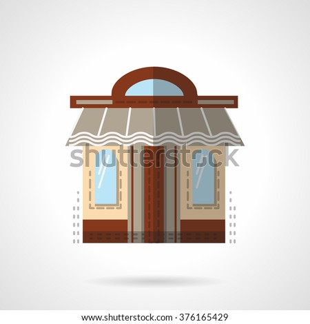 showcase with two windows
